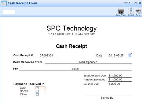 cash receipt example 24.641