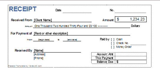 44 Free Cash Receipt Templates In Word Excel Pdf