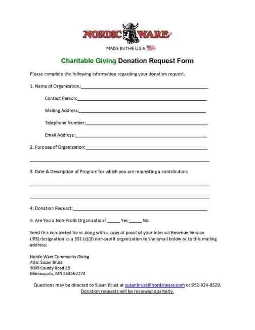 Donation Forms For Non Profit Organizations  MayotteOccasionsCo