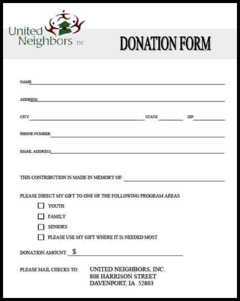 Sizzling image pertaining to printable donation form