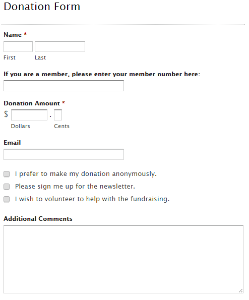donation form template 49741