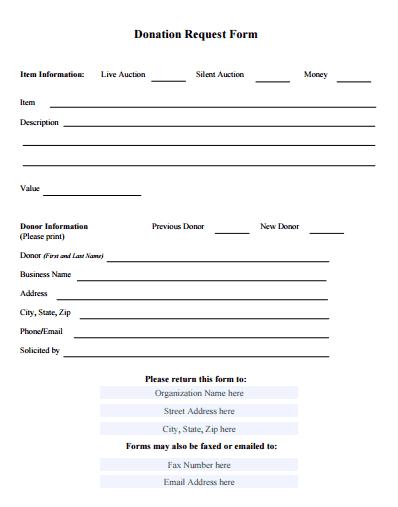 fundraiser pledge form template
