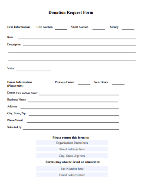 donation form template 59741