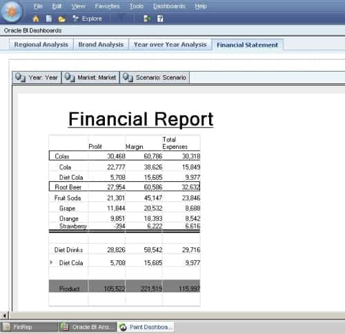 Financial Report Sample Excel  Ex