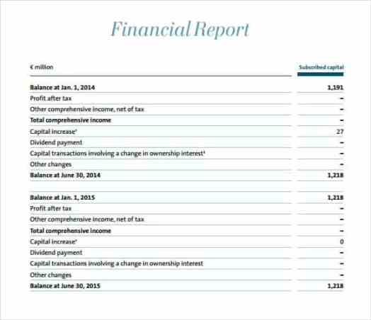 financial report template 141