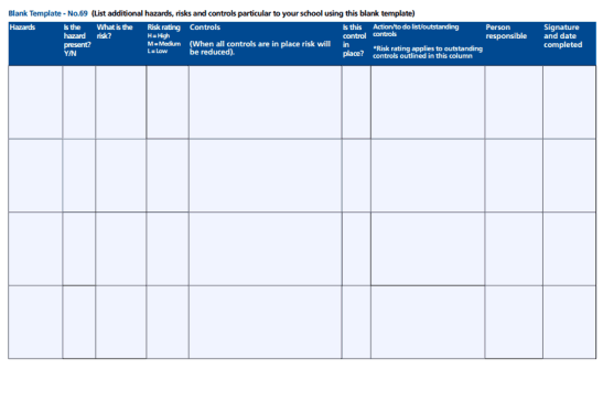 free assessment template 49741