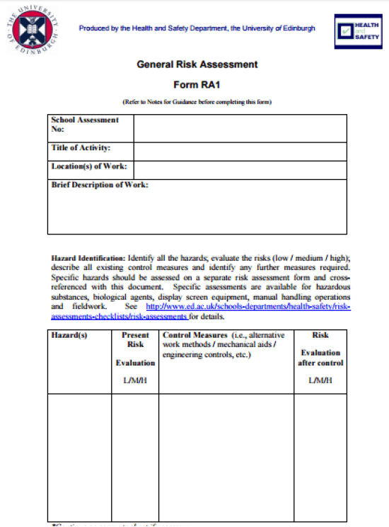 free assessment template 5974