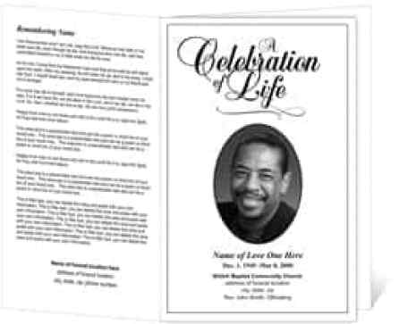 free funeral program sample 364