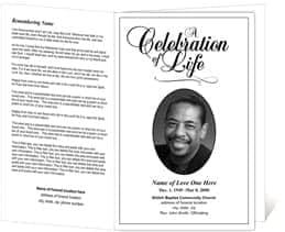 Exceptional Free Funeral Program Sample 364  Free Memorial Service Program