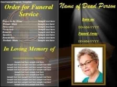 free funeral program template 241