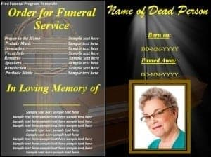Free Funeral Program Template 241  Free Funeral Templates For Word