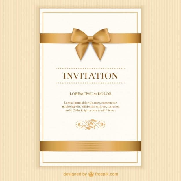 Sample Event Invitations  Invitation Format For An Event