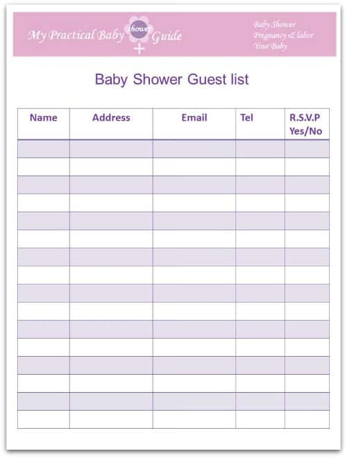 Free Guest List Templates  Word Excel Pdf Formats