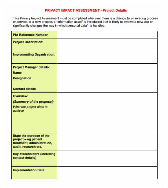 Great Impact Assessment Template 58941 Downlaod Link