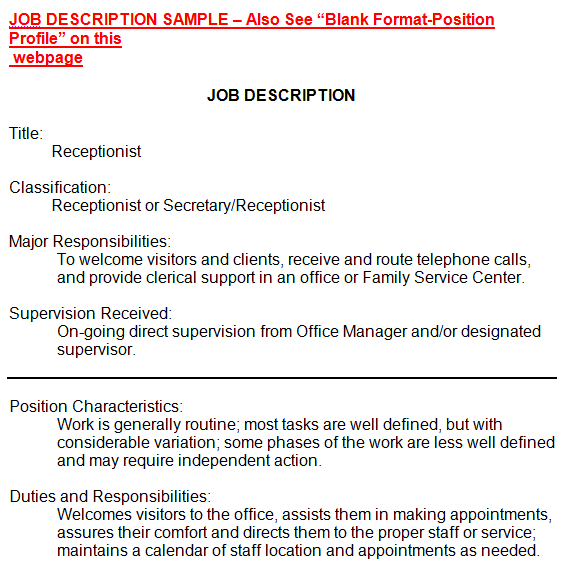 office manager job description templates