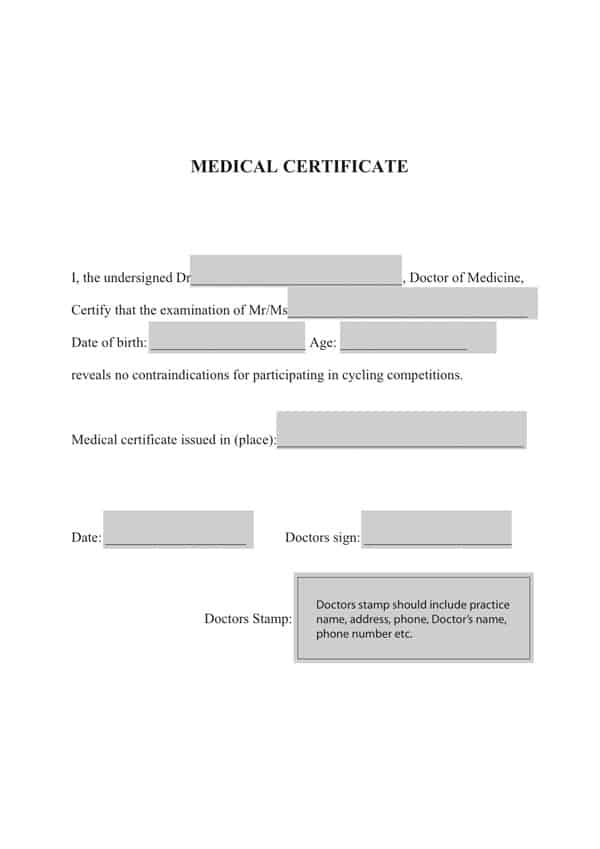 21 free medical certificate template word excel formats medical certificaet example 1691 yadclub Images