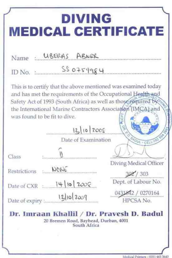 medical certificaet example 6974