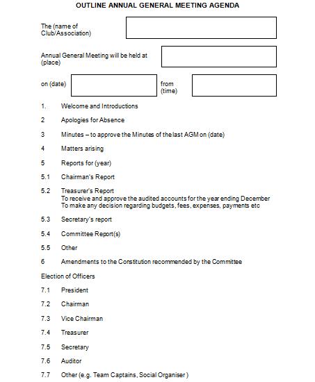 Meeting Agenda Format 3641