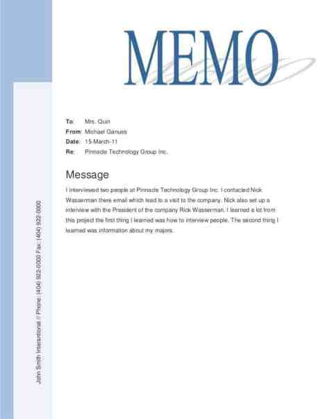 memo sample 11.461