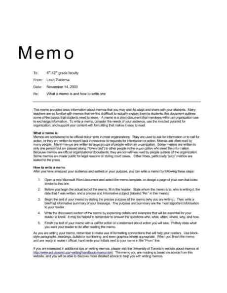memo sample 1641