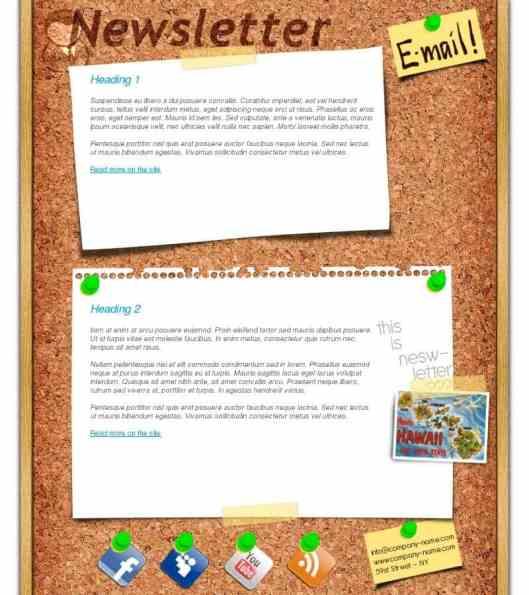 newsletter sample 2541
