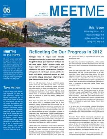 newsletter sample 9461
