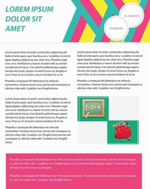 newsletter template 5941