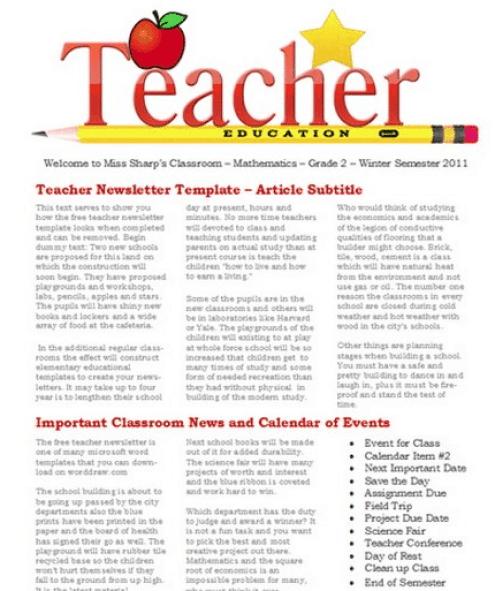 newsletter template 7964