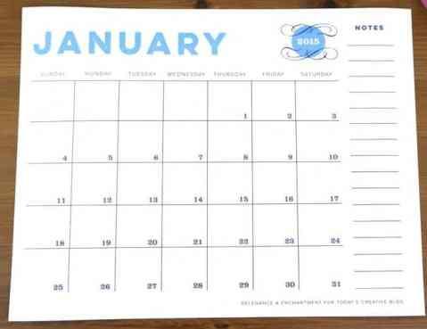 office calendar sample 13.4