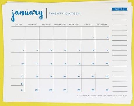 office calendar sample 14.4