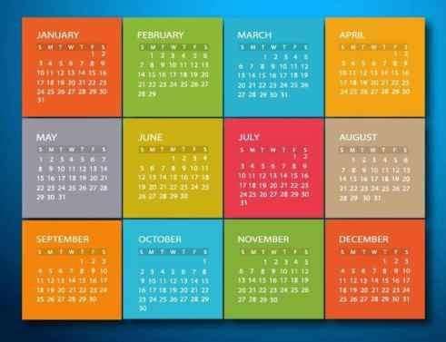 office calendar sample 3941