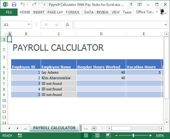 excel templates for payroll