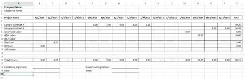payroll sample template 9841