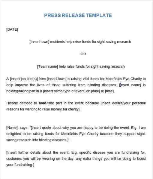 press release sample 6461