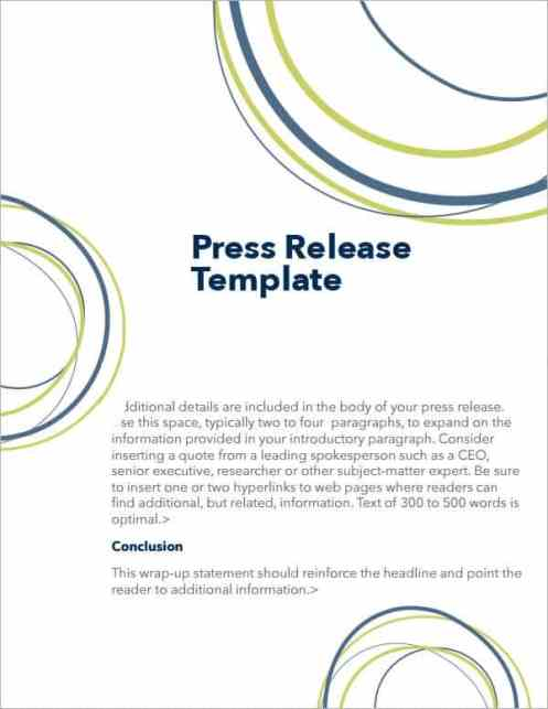 press release sample 74