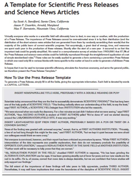 press release template 39641
