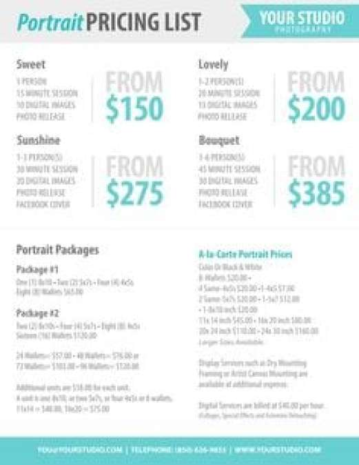 21 Free Price List Template Word Excel Formats – Sample Price List Template