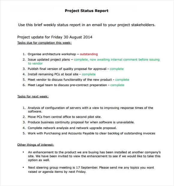 Sample Project Report Sample Cold Storage Project Report Template