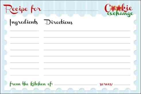 recipe card sample 13.941