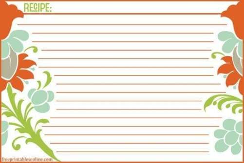 recipe card sample 17.941