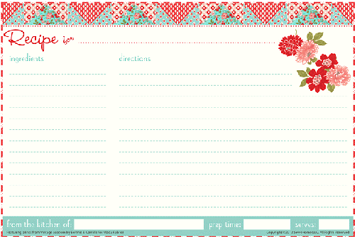 21+ Free Recipe Card Template - Word Excel Formats