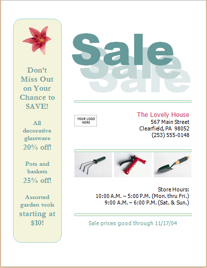 sale flyer template 29641