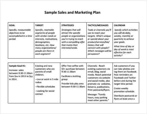 sales plan template 694