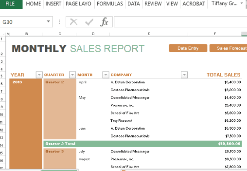sales report sample 12.4441