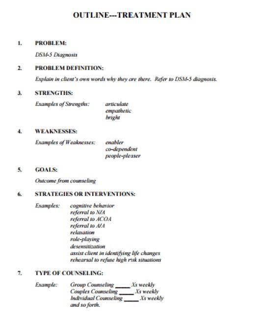 treatment plan template 2941