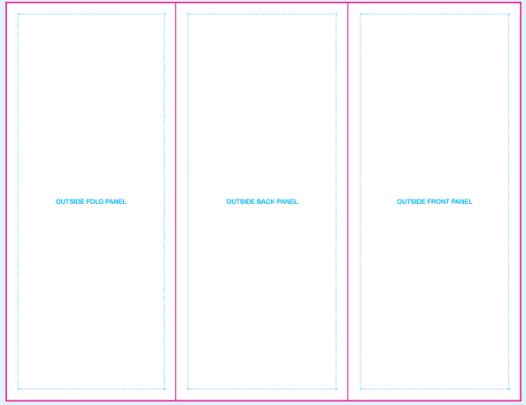 tri fold template 7941