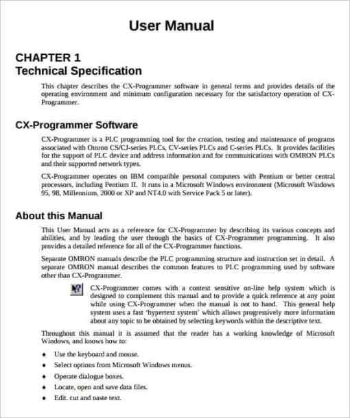 user manual sample 14.441