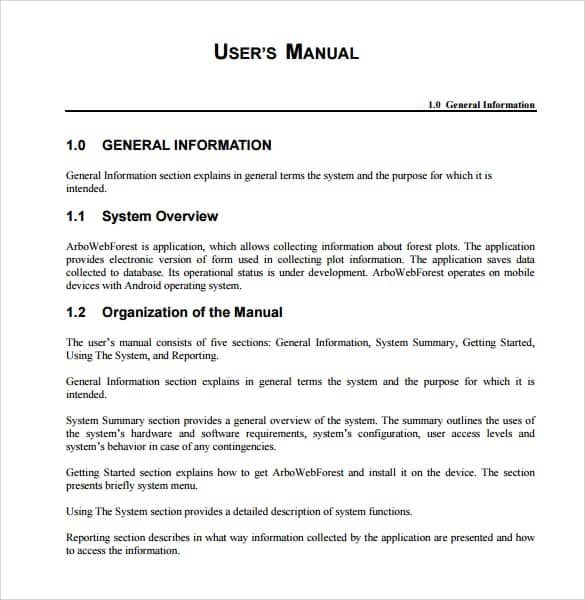 word user manual template rh zulabedavasilah tk Sample of Tablet User Manual Sample User Manual Template