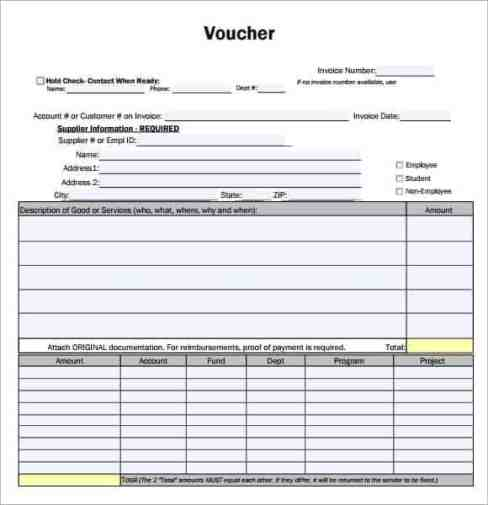 payment voucher word format