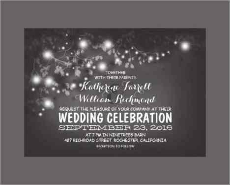 wedding invitation sample 1574